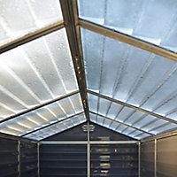 Palram Skylight 6x3 Apex Dark grey Plastic Shed