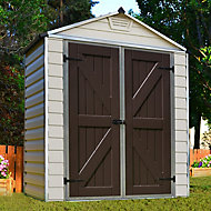 Palram Skylight 6x3 Apex Tan Plastic Shed with floor