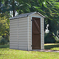 Palram Skylight 6x4 Apex Tan Plastic Shed with floor