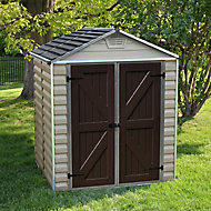Palram Skylight 6x5 Apex Tan Plastic Shed with floor
