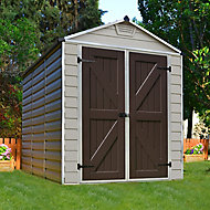 Palram Skylight 6x8 Apex Tan Plastic Shed with floor
