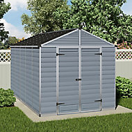 Palram Skylight 8x12 Apex Dark grey Plastic Shed