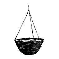Panacea Natural woven fibres Rattan Hanging basket, 35cm
