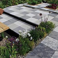 Panache ground Midnight grey Paving slab (L)450mm (W)450mm, Pack of 40