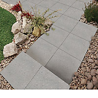 Panache ground Silver grey Paving slab (L)450mm (W)450mm, Pack of 40