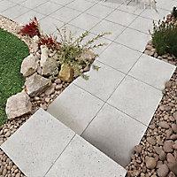 Panache ground White Paving slab (L)450mm (W)450mm, Pack of 40