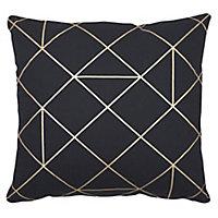 Panaji Geometric Black Cushion