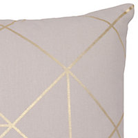 Panaji Geometric Light grey Cushion