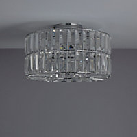 Parcae Chrome effect 3 Lamp Ceiling light