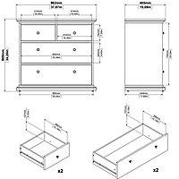 Paris Matt grey 4 Drawer Chest (H)869mm (W)962mm (D)485mm