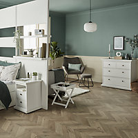 Paris Matt white 4 Drawer Chest of drawers (H)869mm (W)962mm (D)485mm