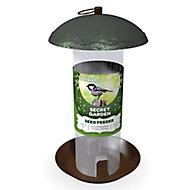 Peckish Secret garden Steel Seed Bird feeder 0.7L