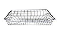 Perkin Wire Silver effect Metal Sliding Storage basket (H)160mm (W)975mm