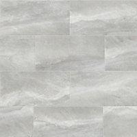 Perla Grey Stone effect Ceramic Wall & floor Tile, Pack of 5, (L)600mm (W)300mm