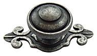 Pewter effect Zinc alloy Round Furniture Knob