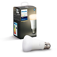 Philips Hue B22 LED Warm white Classic Dimmable Smart Light bulb