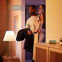 Philips Hue LED Warm white Classic Dimmable Smart Light bulb, Pack of 2