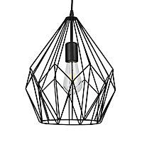 Phobeto Matt Black Pendant ceiling light, (Dia)310mm