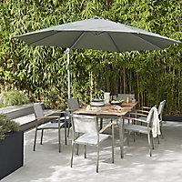 Piazentina Grey Matt Stone effect Porcelain Outdoor Floor tile, Pack of 2, (L)597mm (W)597mm