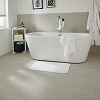 Piazentina Ivory Matt Stone effect Porcelain Floor Tile Sample