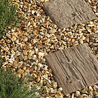 Pine effect Timber Plank Single paving slab (L)250mm (W)250mm