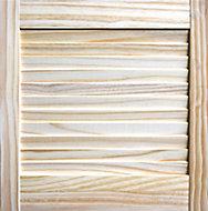 Pine LH & RH Internal Louvre Door, (H)457mm (W)457mm (T)21mm
