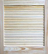 Pine LH & RH Internal Louvre Door, (H)610mm (W)533mm (T)21mm