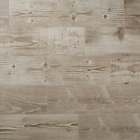 Pine wood Greige Matt Wood effect Porcelain Wall & floor Tile, Pack of 8, (L)800mm (W)200mm