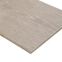 Pine wood Greige Matt Wood effect Porcelain Wall & floor Tile Sample