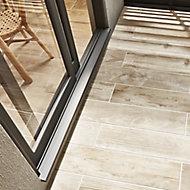 Pine wood Greige Matt Wood Wood effect Porcelain Outdoor Floor tile, Pack of 8, (L)800mm (W)200mm