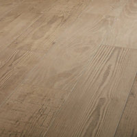 Pine wood Natural Matt Wood effect Porcelain Floor Tile Sample