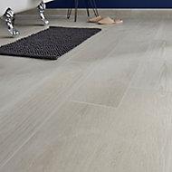 Pine wood White Matt Wood effect Porcelain Floor tile, Pack of 8, (L)800mm (W)200mm