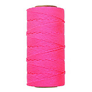 Pink Braided nylon Brick line 0.1m