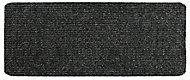 Plain Dark grey Runner (L)1.5m (W)0.5m