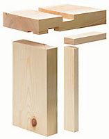 Planed Redwood pine Internal Door lining set, (H)2100mm (W)106mm