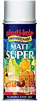 Plasti-Kote Super White Matt Multi-surface Spray paint, 400ml