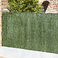 Plastic Green Artificial hedge screen (H)1m (W)3m