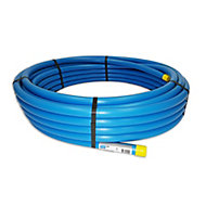 Plumbsure Blue MDPE Push-fit Pipe (L)25m (Dia)25mm