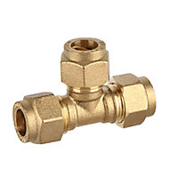 Plumbsure Brass Compression Equal Tee (Dia)10mm
