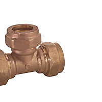 Plumbsure Brass Compression Equal Tee (Dia)15mm