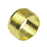 Plumbsure Brass Compression Olive (Dia)10mm, Pack of 4