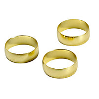 Plumbsure Brass Compression Olive (Dia)22mm, Pack of 3
