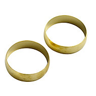 Plumbsure Brass Compression Olive (Dia)28mm, Pack of 2