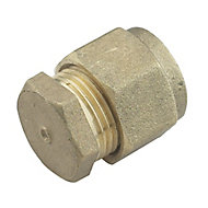 Plumbsure Brass Compression Stop end (Dia)12mm