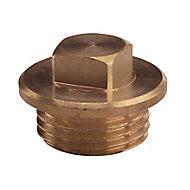 Plumbsure Brass Flange Threaded Nut (Dia)12.7mm