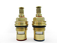 "Plumbsure Brass Threaded Tap gland ¼"" (Dia)10mm, Pack of 2"