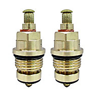 "Plumbsure Brass Threaded Tap gland ½"" (Dia)8mm, Pack of 2"