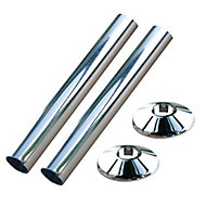 Plumbsure Chrome effect Radiator Pipe cover accessory pack (L)110mm (Dia)15mm