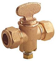 Plumbsure Compression Gas cock (Dia)15mm