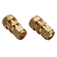 Plumbsure Compression Reducing Coupler (Dia)15mm, Pack of 2